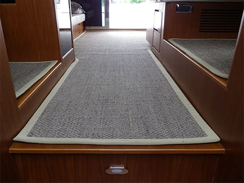 Tuscan Shabha Sisal -  Custom Made Into 48FT Yacht - Pacific Motor Yachts